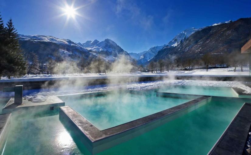 De raquetas de nieve y aguas termales