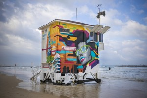 Lifeguard Tower Grafitti