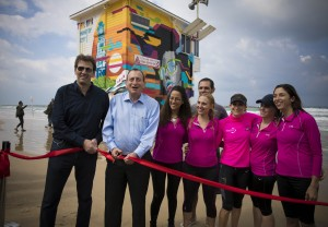 Mayor of Tel Aviv, Ron Huldai and Director-General of the Ministry of Tourism, Amir Halevi