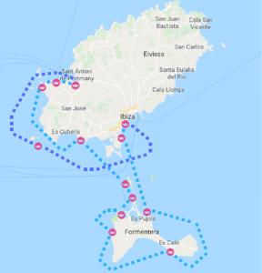 Mapa Ibiza Formentera