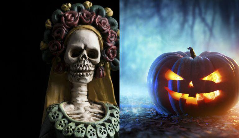 Entre Halloween y el Día de Muertos