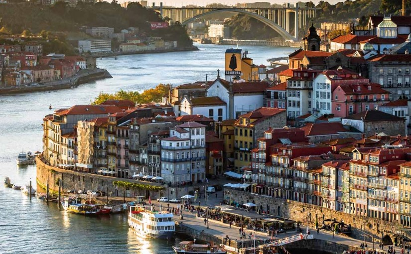 Ribeira District and Arrabida bridge, Oporto