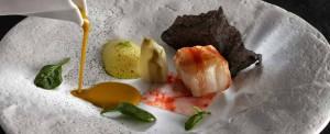 Foto 3 berasategui taco-de-rape-a-la-brasa-con-su-suquet-dados-de-hinojo-asado-y-crujiente-de-calamar-jufe