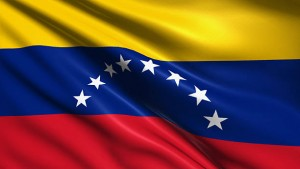 Venezuelan flag with fabric structure