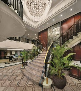 Grand Staircase - Deck 4/5 Midship Insignia - Oceania Cruises