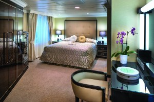 Vista Suite Cat. VS - Bedroom - Room #7005 Deck 7 Forward Starboard Insignia - Oceania Cruises
