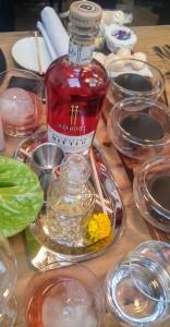 Mise en place del Spritz y el Ajonegro de las Pedroñeras