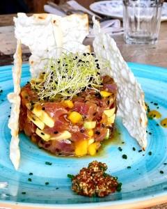 1 Tartar de atún con aguacate, mango, jengibre y sésamo (2)