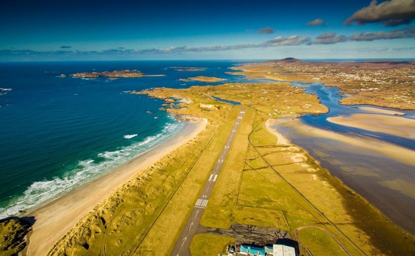 scenic approach into Donegal Airport