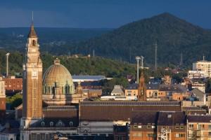 Charleroi - panorama - beffroi (UNESCO) - eglise Saint-Christophe