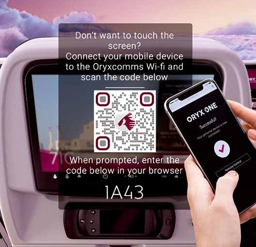 Qatar Airways: entretenimiento a bordo 100% sin contacto