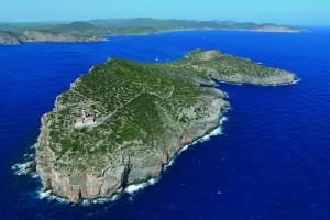 Rocky islet of Tagomago. Ibiza, Spain. Islote de Tagomago. Ibiza, Spain.