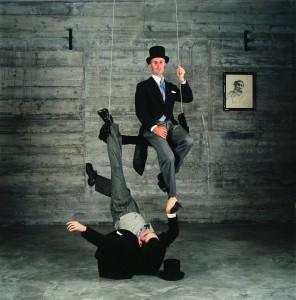 Foto 6 Eduardo Sourrouille, De la carpeta, personas que visitaron mi casa, Salón para Heman. 70 x 70 cm. 2005