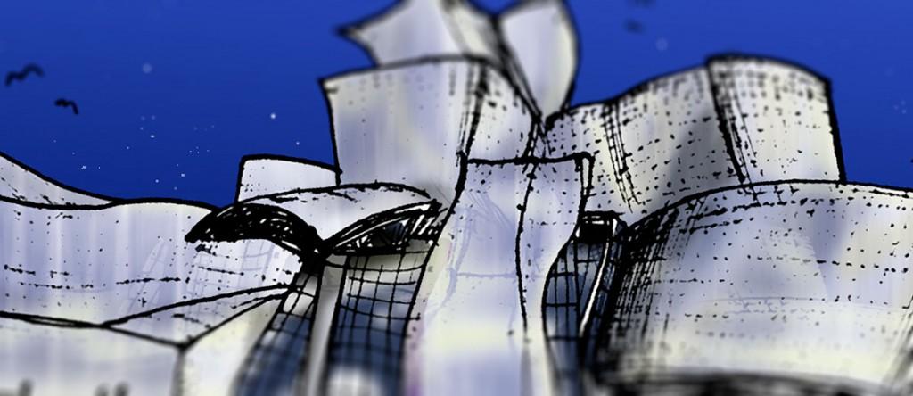 Al y Tum en el Guggenheim Bilbao