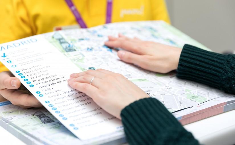 Madrid lanza un mapa tur stico en braille altum con for Oficina de avianca en madrid