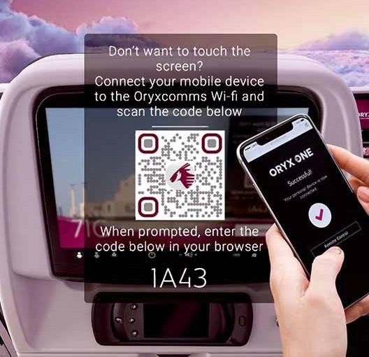 Qatar Airways: entretenimiento a bordo 100% sin contacto
